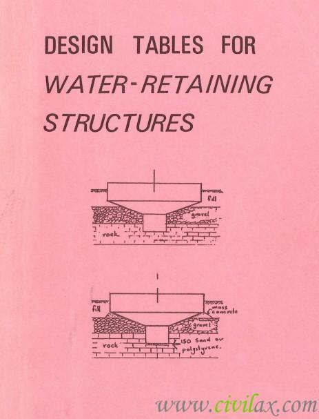 Water Retaining Structures Section : Design tables for water retaining structures civil