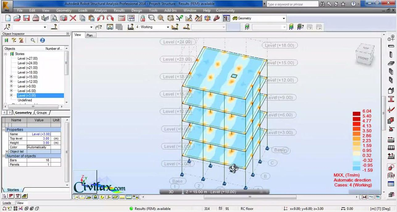 Modelling analysis and design of building in robot Building structural design software free download