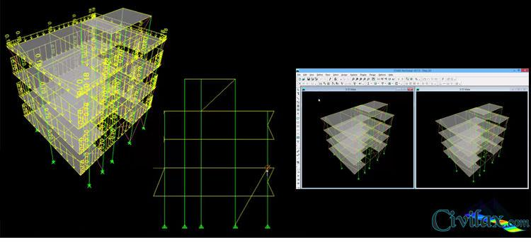 Learning ETABS Simple Steel Structure Modeling