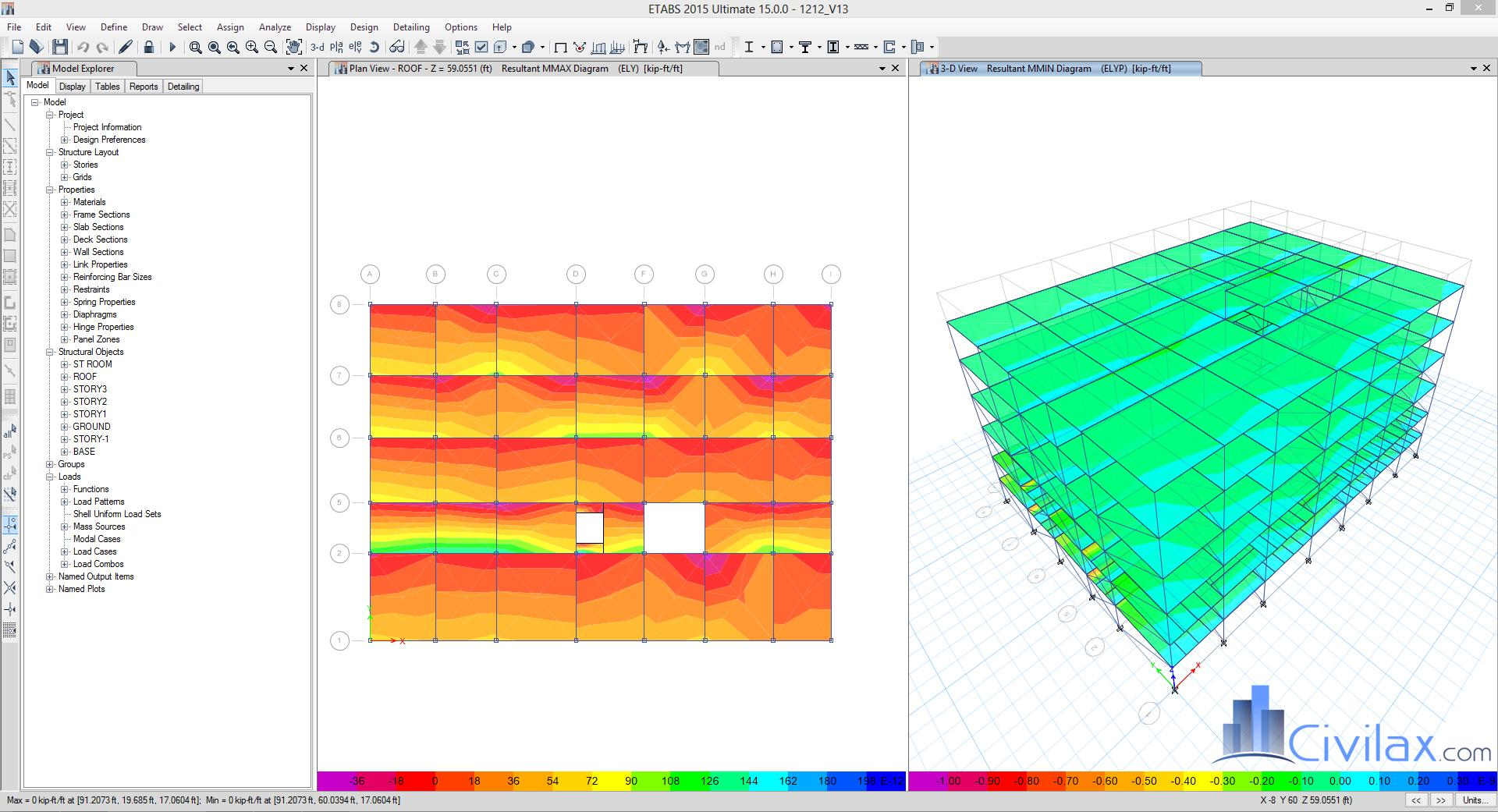Steel Building Design Calculations And Model Files Civil