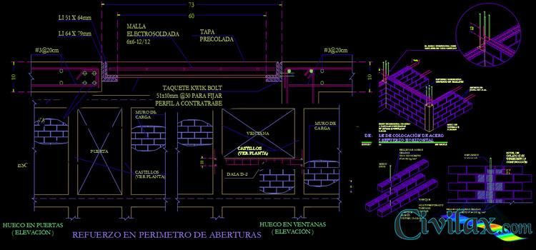 AutoCAD Detail of Earthquake Resistant Structure