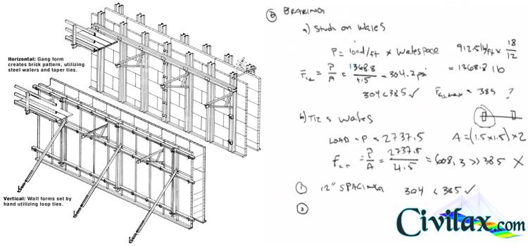 Concrete Wall Form Design Example