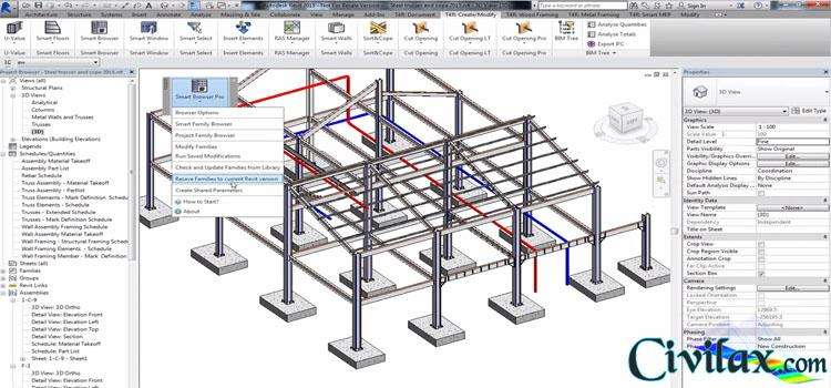 Modelling and Documenting Steel Framing Structures with Revit Add ...