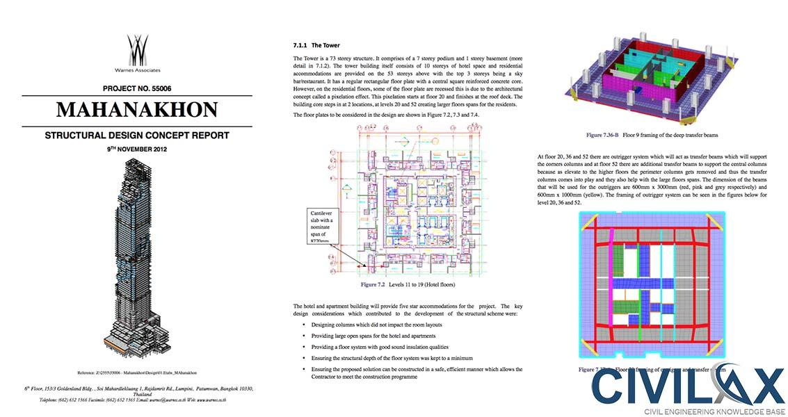 Structural concept design report of tall building civil for Architectural engineering concepts