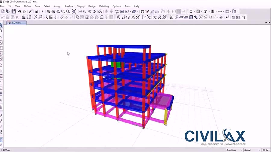 Etabs 2015 Tutorial - Modelling of a Commercial Building