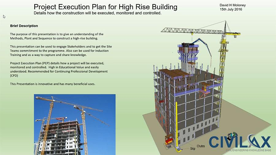 High rise building project execution plan civil for Website build project plan