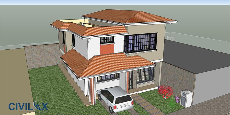 SketchUp Model of Home Design - Civil Engineering Community