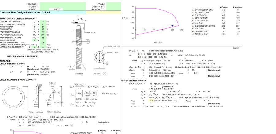 Concrete Pier Design Software
