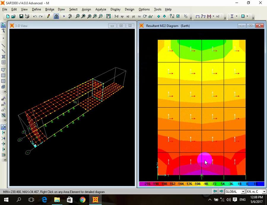 Retaining Wall Shear Wall And Raft Foundation Design In SAP2000 ...