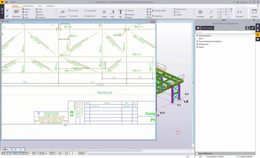Drawing Layout Editor in Tekla Structures - Civil Engineering Community
