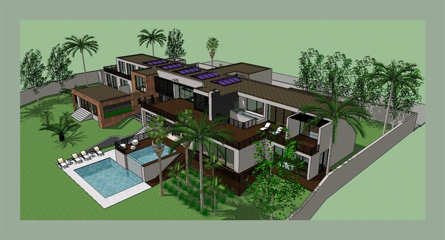Sketchup modern house design home design 2017 for Minimalist house sketchup