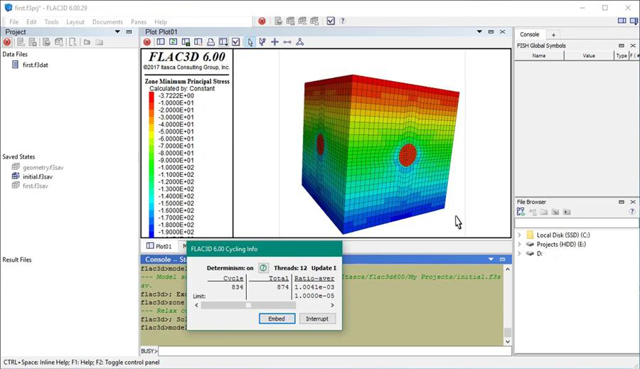 quick start tutorial in flac3d civil engineering community rh civilax com FLAC Software Itasca Consulting Group