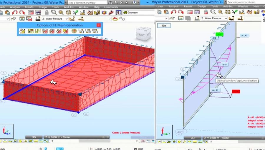 Autodesk Robot Tutorials 2016 How To Apply Water Pressure On Swimming Pool Civil Engineering