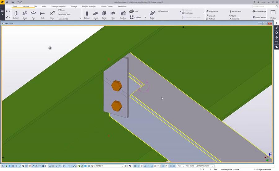 add material back to cuts in tekla structures civil engineering rh civilax com tekla structures 17 training manual pdf Tekla Commands