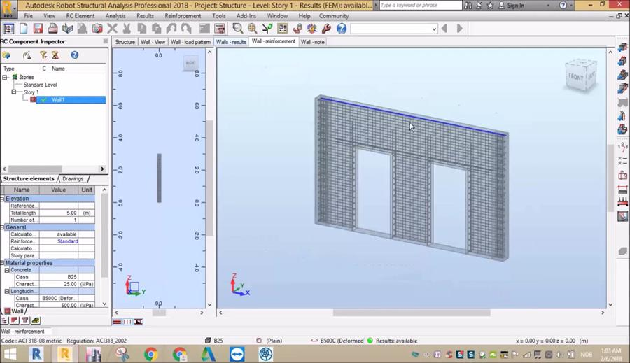 Rcc Lift In Wall : Design of rcc wall in robot structural analysis