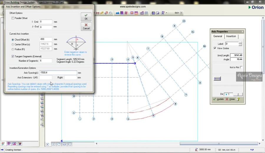 drawing axis on csc orion 18 civil engineering community rh civilax com