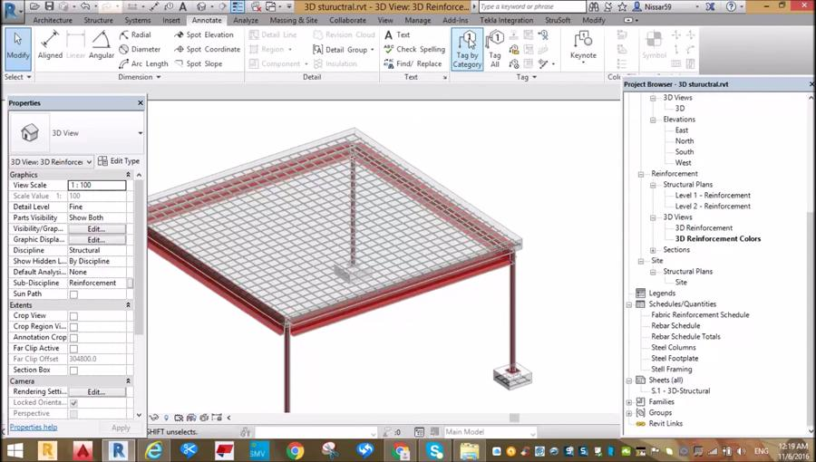 Reinforcing of Simple RCC Slab and Foundation in Revit - Civil ...