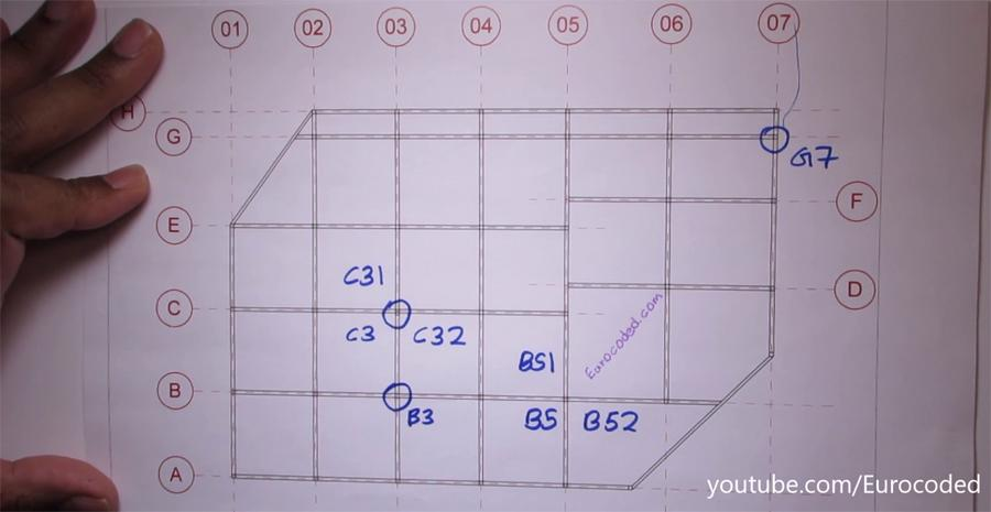 Grid reference on structural drawings civil engineering for How to read structural blueprints