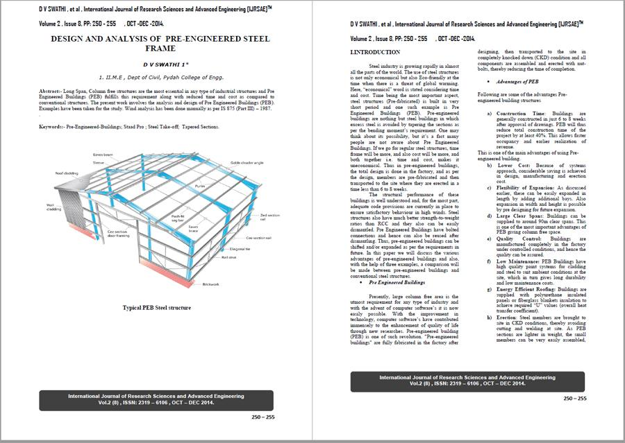 Design and Analysis of Pre-Engineered Steel Frame - Civil ...