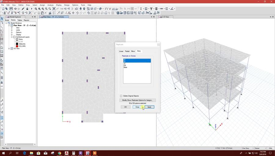 Advanced Meshing in ETABS with the Help of Ram Concept